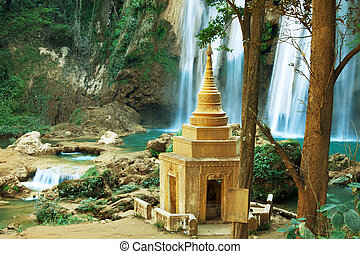 Waterfall in Myanmar - waterfall in Myanmar