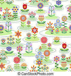 Seamless floral background - Seamless background with flower...