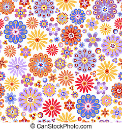 Floral seamless pattern - Seamless pattern with colorful...