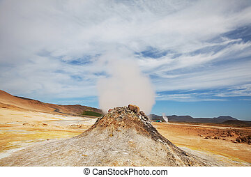 Thermal zone - Fumarole field in Namafjall, Iceland