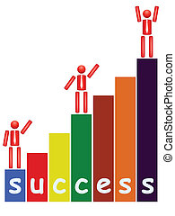 man with a ladder to succes - vector illustration of man...