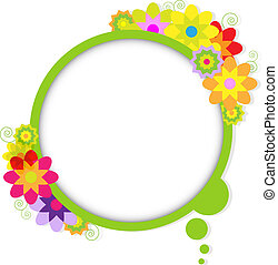 Abstract Design Bubble With Flowers