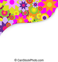 Bright Background With Flowers - Bright Background With...