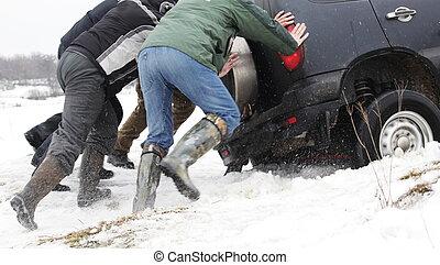 Winter problem - car got stuck