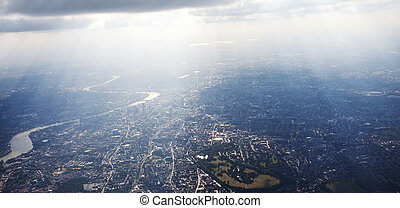 View above city - View of London from above