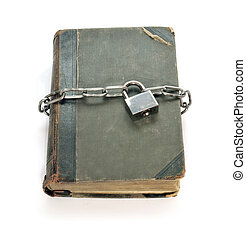 The book and chain - The ancient book which is connected by...