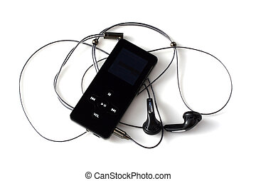 mp3 player with head phones