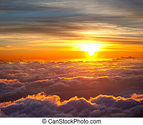 Sunset scene on Haleakala,Hawaii