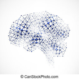 Molecular brain - Abstract image of the brain of molecules....