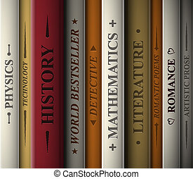 Books of various genres - Books of various literary genres....