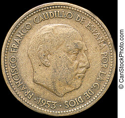 Coin - 2,5 Pesetas,spanish coin