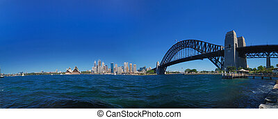 Sydney Harbour Skyline Panorama - Sydney harbour skyline...