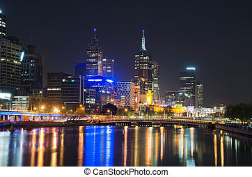 Yarra River, Melbourne City Skyline - Melbourne City Skyline...