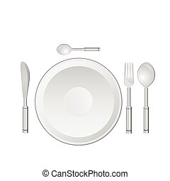 dinner service vector illustration