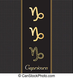 Capricorn Gold Horoscope Symbols