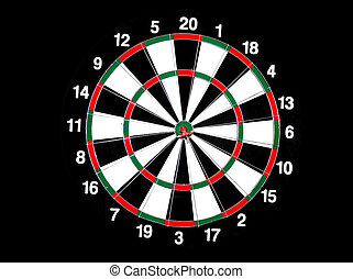 dart board - concept for hitting target, dart board with...