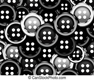 Cloth bottons - Set of cloth buttons background.