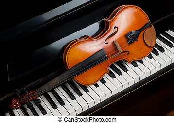 hegedű, zongora