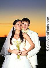 tramonto, matrimonio