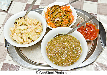 Traditional Ethiopian food - Different kinds of traditinal...