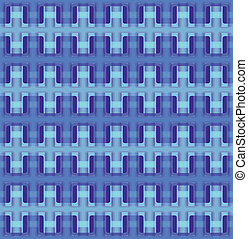 Vector seamless interwoven texture - Blue vector seamless...