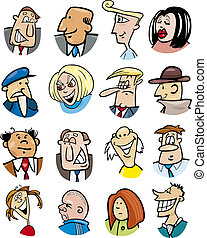 cartoon people characters and emotions - cartoon...