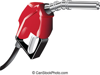 Gas pump - A device for filling the car with petrol. Vector...