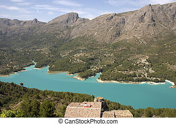 Lake near Guadalest - Lakeview from little village Guadalest...