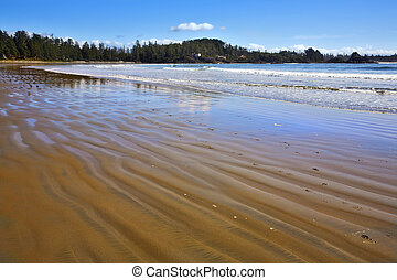 Ocean outflow in Canada - Ocean outflow on an enormous beach...