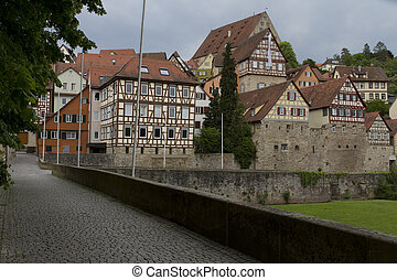historic town in south germany - historic city in south west...