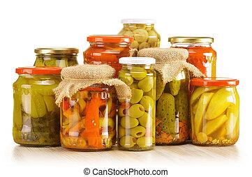composición, tarros, escabechado, vegetales,...