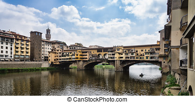 Ponte Vecchio in Florence - The Ponte Vecchio is a Medieval...