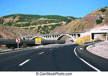 Mountain road in Turkey
