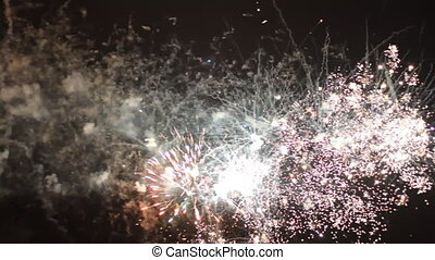 Fireworks in Israel in Independence Day