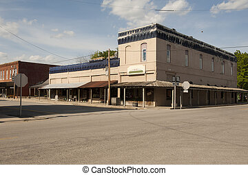 old country town corner store - An old country store on a...