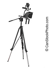 video camera - The image of a a tripod for video camera