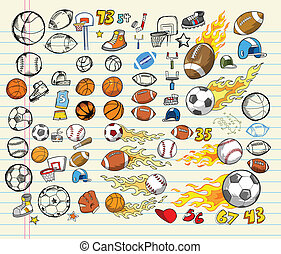Mega Sports Vector Illustration Set