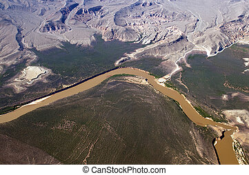 Aerial view of the Colorado River