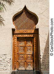 Arabian door - Old Arabian wooden door