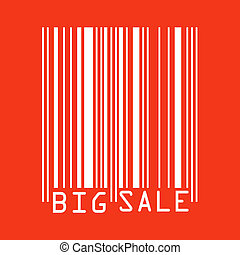 Big Sale red bar codes. EPS 8