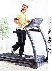 Senior woman doing exercise Healthy lifestyle