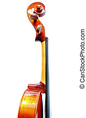 Details of violin head isolated