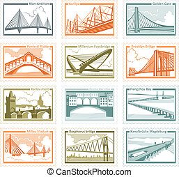 postage stamps - The collection of stamps with the image of...