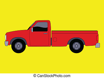 Pickup Truck - Vector illustration of a pick up truck
