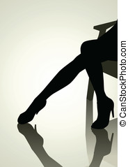 Woman Legs - Silhouette of woman legs with high heels