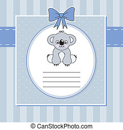 new baby shower card with koala