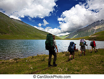 Group in hike - Backpackers
