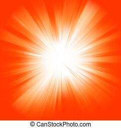 Orange color burst. EPS 8