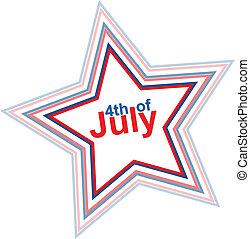 4th of July design element, eps10 illustration