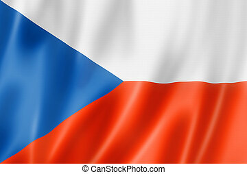 Czech flag - Czech Republic flag, three dimensional render,...